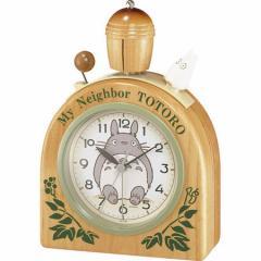 リズム時計 キャラクター置き時計 となりのトトロとなりのトトロ 4RA455MN06 トトロR455N[トトロR455N]【返品種別A】