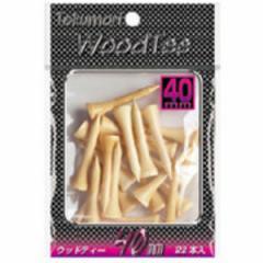 ライト T-470 Tokumori ウッドティー 40mm 22本Golf it![T470]【返品種別A】
