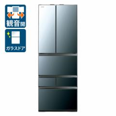 東芝 GR-R510FZ-XK 508L 6ドア冷蔵庫(クリアミラー)TOSHIBA[GRR510FZXK]【返品種別A】