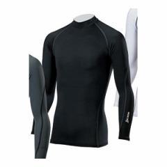 ダンロップ スリクソン スリクソン 長袖ハイネックシャツ(メンズ・ブラック×チャコールグレー・L) SMA6002 ブラツク L【返品種別A】