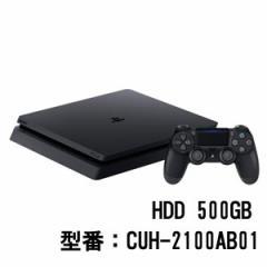 PlayStation 4 ジェット・ブラック 500GB【お一人様一台限り】 CUH-2100AB01 PS4ブラック500GB【返品種別B】