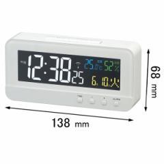 ノア精密 デジタル時計MAG カラーハープ T-684 WH[T684WH]【返品種別A】
