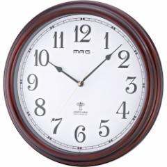 ノア精密 電波掛時計MAG 流河(リュウガ) W-561 BR[W561BR]【返品種別A】
