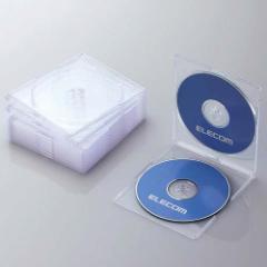 エレコム CCD-JSCSW10CR Blu-ray/DVD/CDケース 10セット(スリム/PS/2枚収納・クリア)[CCDJSCSW10CR]【返品種別A】