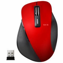エレコム M-XGM10DBRD 2.4GHzワイヤレスBlueLEDマウス Mサイズ(レッド)EX-G[MXGM10DBRD]【返品種別A】