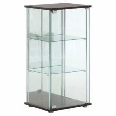 不二貿易 96048 ガラスコレクションケース 3段(背面ミラー付き)TMG-G02[96048フジボウエキ]【返品種別A】
