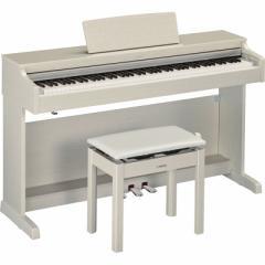 ヤマハ 電子ピアノ (ホワイトアッシュ調仕上げ)【高低自在椅子&ヘッドホン&ソングブック付き】 YDP-163WA【返品種別A】