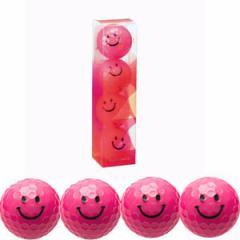 キャスコ ゴルフボール KIRA SWEET キャラ 3ピース(4個入)キラピー(ピンク)  KIRASWキヤラP 4コ ピンク【返品種別A】