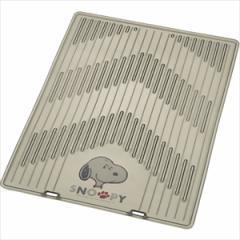 BONFORM 6356-01SM カーマット(スモーク)スヌーピークリアーアロー(45×60cm) フロアマット[635601SM]【返品種別A】