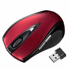 サンワサプライ MA-NANOLS12R 2.4GHz 超小型レシーバーワイヤレスレーザーマウス(レッド)[MANANOLS12R]【返品種別A】