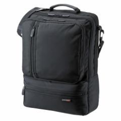サンワサプライ BAG-3WAY18BK 3WAYビジネスバッグ(15.6型ワイド・シングル・タテ型・ブラック)[BAG3WAY18BK]【返品種別A】