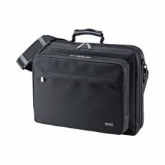 サンワサプライ BAG-U54BK2 15.6インチワイド対応 PCキャリングバッグ(ブラック)[BAGU54BK2]【返品種別A】
