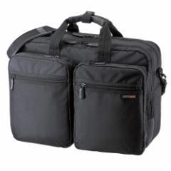 サンワサプライ BAG-3WAY20BK 3WAYビジネスバッグ(横背負い・出張用・ブラック)[BAG3WAY20BK]【返品種別A】