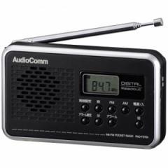 オーム RAD-F270N ワイドFM/AM デジタル表示ラジオAudioComm OHM[RADF270N077709]【返品種別A】