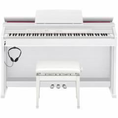 カシオ 電子ピアノ(ホワイトウッド調)【高低自在椅子&ヘッドホン&楽譜集付き】 AP-460-WE【返品種別A】