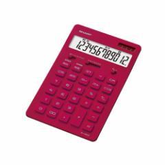 シャープ EL-N802-RX 卓上 12桁電卓(レッド)[ELN802RX]【返品種別A】