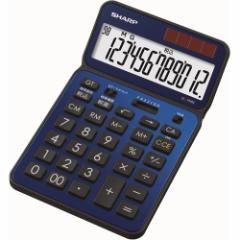 シャープ EL-VN82-AX 卓上電卓 12桁(ディープブルー)50周年記念モデル[ELVN82AX]【返品種別A】