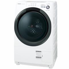 シャープ 7.0kg ドラム式洗濯乾燥機【右開き】ホワイト系 SHARP プラズマクラスター洗濯乾燥機 コンパクトドラム ES-S7B-WR【返品種別A】