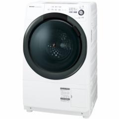 シャープ 7.0kg ドラム式洗濯乾燥機【左開き】ホワイト系 SHARP プラズマクラスター洗濯乾燥機 コンパクトドラム ES-S7B-WL【返品種別A】