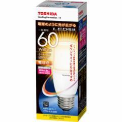 東芝 LDT8L-G/S/60W LED電球 一般電球形 810lm(電球色相当)TOSHIBA T形[LDT8LGS60W]【返品種別A】【SALE商品】