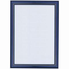 やのまん ニューDXウッドフレーム【10】ブルー 金モール仕様 (サイズ:50cm×75cm)【返品種別B】