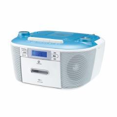 コイズミ SAD-4935-A ワイドFM対応CDラジカセ(ブルー)[SAD4935A]【返品種別A】