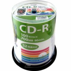 HI-DISC HDCR80GP100 データ用700MB 52倍速対応CD-R 100枚パック ホワイトプリンタブルハイディスク[HDCR80GP100]【返品種別A】