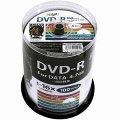 HI-DISC HDDR47JNP100 データ用 16倍速対応DVD-R 100枚パック 4.7GB ホワイトプリンタブルハイディスク[HDDR47JNP100]【返品種別A】