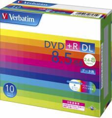 バーベイタム データ用8倍速対応DVD+R DL 10枚パック 片面8.5GB ホワイトプリンタブル  DTR85HP10V1【返品種別A】