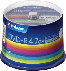 バーベイタム DHR47JP50V3 データ用16倍速対応DVD-R50枚パック4.7GB ホワイトプリンタブルVerbatim[DHR47JP50V3]【返品種別A】