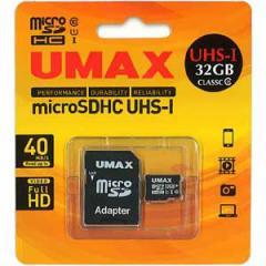 UMAX UM-MCSDHCUHSIC1032G microSDHCメモリカード 32GB Class10 UHS-I[UMMCSDHCUHSIC1032G]【返品種別A】