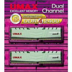 UMAX DCDDR4-2400-16GBHS PC4-19200(DDR4-2400)288pin DIMM 16GB(8GB×2)[DCDDR4240016GBHS]【返品種別B】