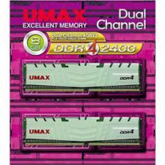 UMAX DCDDR4-2400-8GBHS PC4-19200(DDR4-2400)288pin DIMM 8GB(4GB×2)[DCDDR424008GBHS]【返品種別B】