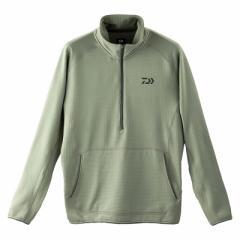 ダイワ(Daiwa) DE-91009 ミドルウェイト ハーフジップシャツ グレー L / 防寒ウェア 防寒インナー 【在庫限り特価】