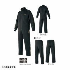 がまかつ(Gamakatsu) GM-3623 ジャージスーツ S ブラック/ゴールド