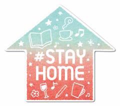 #STAY HOME 02 ウォールステッカー コロナウィルス対策 自粛 ステッカー DW043 壁紙用 インテリア グッズ