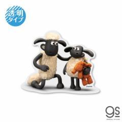 ひつじのショーン 透明ステッカー ショーン&ティミー キャラクターステッカー クレイアニメ アニメーション Shaun LCS1240 gs 公式グッ