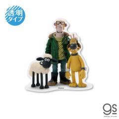 ひつじのショーン 透明ステッカー 集合 キャラクターステッカー クレイアニメ アニメーション Shaun LCS1242 gs 公式グッズ