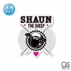 ひつじのショーン 透明ステッカー SHAUN THE SHEEP キャラクターステッカー クレイアニメ アニメーション Shaun LCS1243 gs 公式グッズ