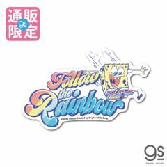 【通販限定デザイン】 スポンジ・ボブ Follow the Rainbow キャラクターステッカー アメリカ アニメ SpongeBob SPO031 gs 公式