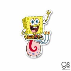スポンジ・ボブ ボブ&ゲイリー キャラクターステッカー アメリカ アニメ SpongeBob ダイカットステッカー SPO005 gs 公式グッズ