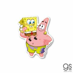 スポンジ・ボブ ボブ&パトリック キャラクターステッカー アメリカ アニメ SpongeBob ダイカットステッカー SPO006 gs 公式