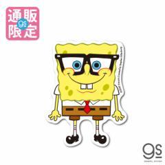 【通販限定デザイン】 スポンジ・ボブ ボブ 眼鏡ver. キャラクターステッカー アメリカ アニメ SpongeBob SPO032 gs 公式グッズ