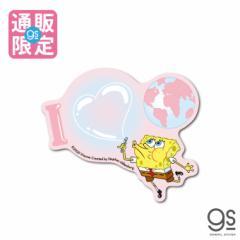 【通販限定デザイン】 スポンジ・ボブ I love earth キャラクターステッカー アメリカ アニメ SpongeBob SPO034 gs 公式グッズ