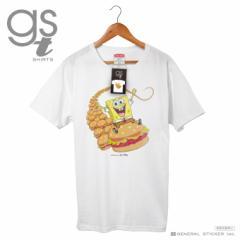 【ネット限定商品】 スポンジ・ボブ キャラクターTシャツ ハンバーガー レディース アメリカ アニメ オマケ付き SPO038 gs 公式