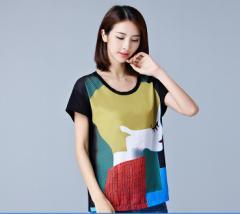 大きいサイズ おおきいサイズ カットソー プリントTシャツ レディース 予約商品 eho-25606 TS
