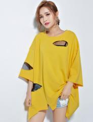 大きいサイズ おおきいサイズ ビッグTシャツ ダメージ加工 レディース 予約商品 bcmo-21235 TS