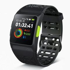GPS ランニングウォッチ P1 心拍/疲労度/睡眠測定 VO2Max測定 Twitter/LINE/Gmail/電話着信通知 多機能スマートウォッチ ストップウォッ