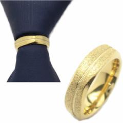 ゴールドラメ×ラインの角ばったタイリング (スカーフリング)