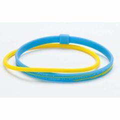 ファイテン RAKUWAアンクレットS スラッシュラインラメタイプ [カラー:ブルー×イエロー] [サイズ:23cm] #TB014331 PHITEN 送料無料